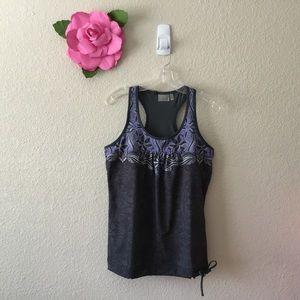 Athleta Lilac Floral Print Tinker Tank Top